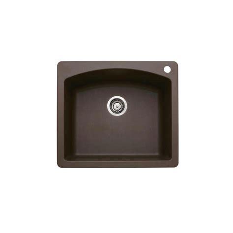dual mount kitchen dual mount granite 33 in 1 hole large single basin