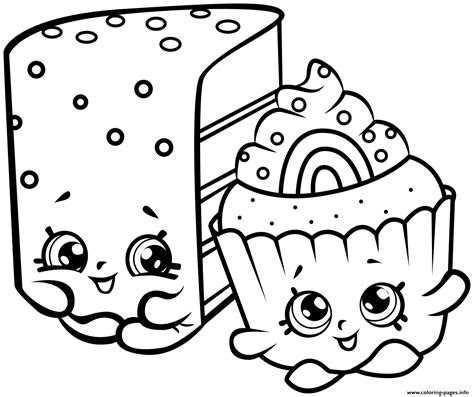 shopkins coloring pages you can print print cute shopkins cakes coloring pages shopkins