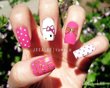 imagenes uñas decoradas hello kitty u 241 as decoradas hello kitty