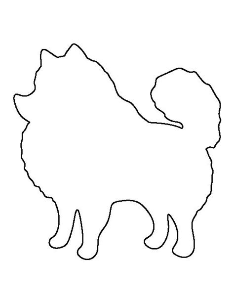 pomeranian pattern use the printable outline for crafts
