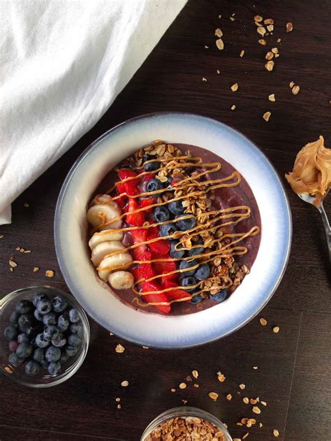 acai peanut butter bowl wyldflour