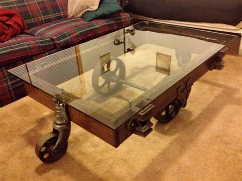 Wheeled Antique Coffee Table Buy Custom Cut Glass Direct Wheeled Coffee Table