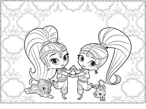 shimmer and shine coloring pages nick jr shimmer and shine coloring pages coloring pages