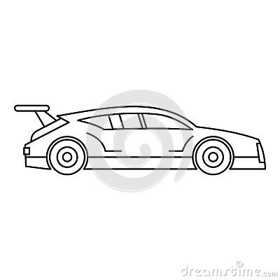 Outline Style Auto by Racing Car Icon Outline Style Vector Cartoondealer 82865095