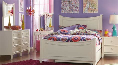 black bedroom furniture for girls jaclyn place ivory 5 pc full panel bedroom bedroom sets