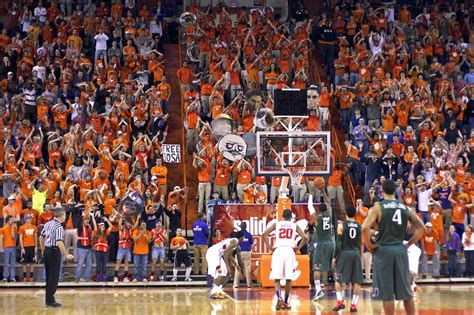 clemson student section clemson to enter basketball arms race with a new arena