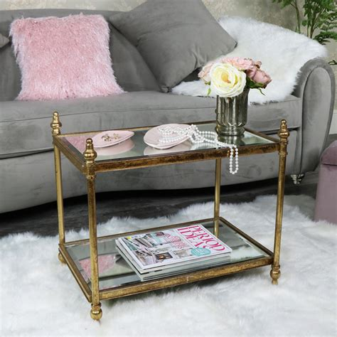 gold rectangle side table small rectangle antique gold mirrored coffee table