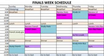 finals study schedule template creating a study schedule for time