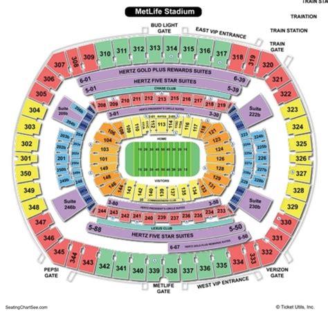metlife stadium seating chart jets metlife stadium seating chart seating charts and tickets