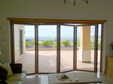 puertas de terraza puertas plegables de cristal para terrazas oficinas