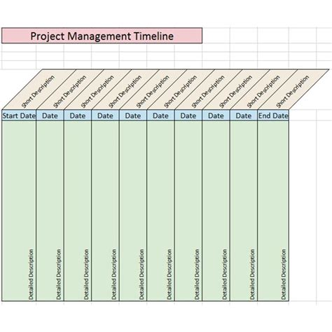 sle project management timeline templates for microsoft