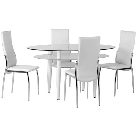 oval table and chair set clear glass oval dining table and chair set with 4 leather