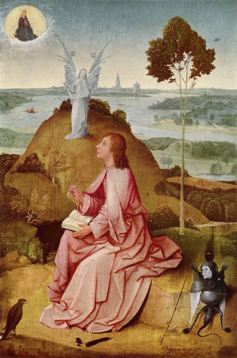 saint john the evangelist on patmos hieronymus bosch wikiart org encyclopedia of visual arts