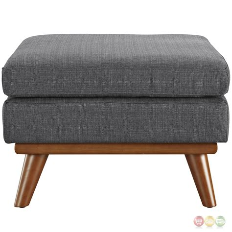 Tufted Upholstered Ottoman Engage Modern Button Tufted Upholstered Corner Ottoman Gray
