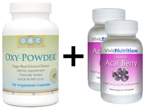 Most Effective Detox Cleanse by Oxy Powder Premium Acai 2 Bottles Complete Cleanse