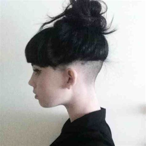 www ponytail with high nape shave haircut com nape undercut nape undercuts pinterest undercut