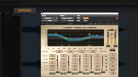 tutorial audio fx widget waves linear phase multiband compressor plugin tutorial
