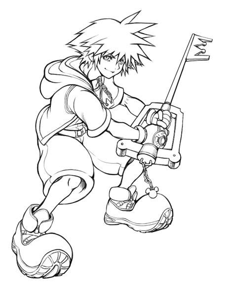 Halloween Town Sora Kingdom Hearts Coloring Pages Coloring Kingdom Hearts Coloring Page