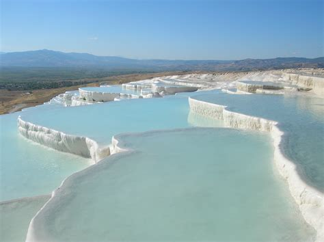 pamukkale thermal springs turkey la spiaggia pinterest