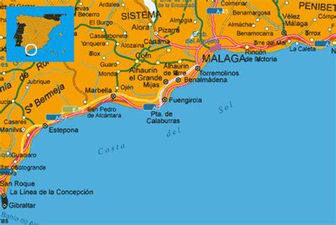 mlaga y costa del 8499356885 maps spain costa del sol costa del sol spanish coast map flickr photo sharing