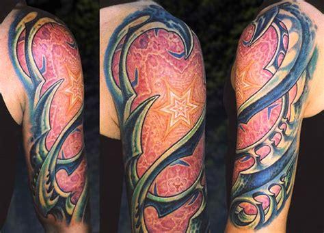 biomechanical tattoo guy aitchison bio organic shoulder by guy aitchison tattoos