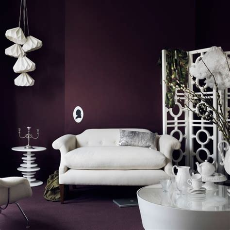 deep plum living room