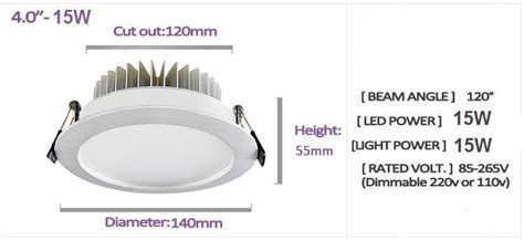 Downlight 4inch Bright G Fitting Downlight 4 Inch Bright G Chrome dhl fedex 15w dimmable led ceiling light recessed l 4
