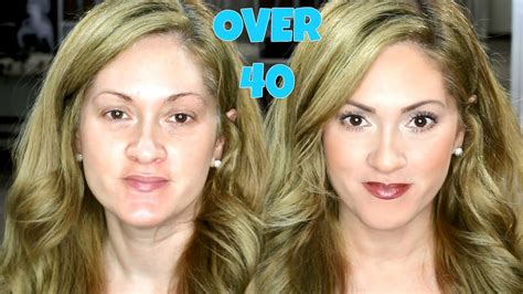 hair and makeup over 40 quick easy everyday makeup over 40 youtube