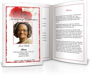 funeral program sample example of memorial programs