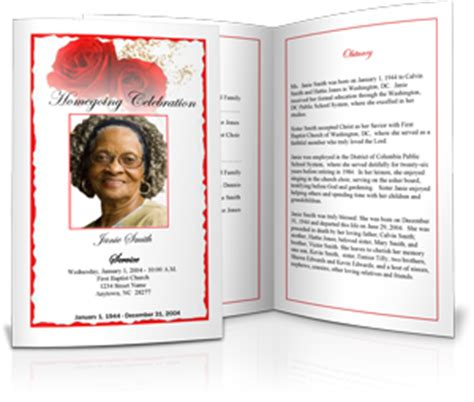 Templates To Create Funeral Programs Free Homegoing Service Program Template
