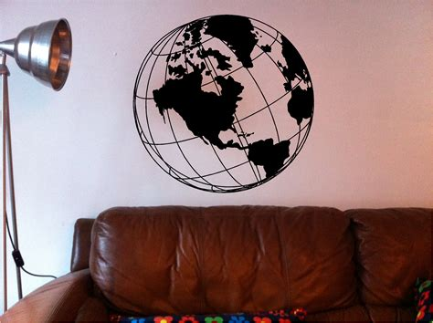 Globe Wall stunning world map globe wall quote sticker vinyl