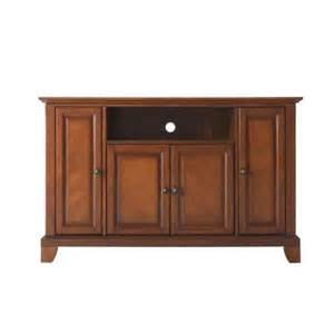 tv stands at home depot crosley newport 48 in tv stand in cherry kf10002cch the