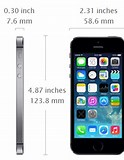 Image result for iphone 5s dimensions. Size: 124 x 160. Source: todayontech.com