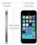 Image result for Apple iPhone 5s Dimension. Size: 130 x 160. Source: todayontech.com