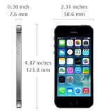 Image result for apple iphone 5s dimension. Size: 140 x 160. Source: todayontech.com