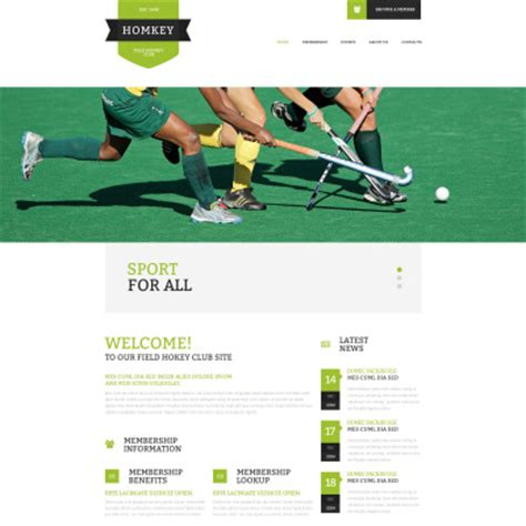 field hockey template responsive field hockey website templates