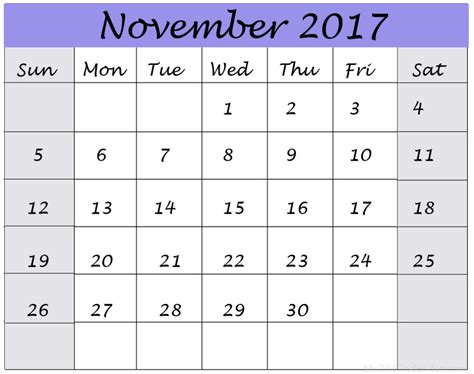 printable november 2017 calendar cute november 2017 calendar cute calendar template letter