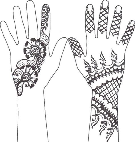 mehndi clipart henna design pencil and in color mehndi