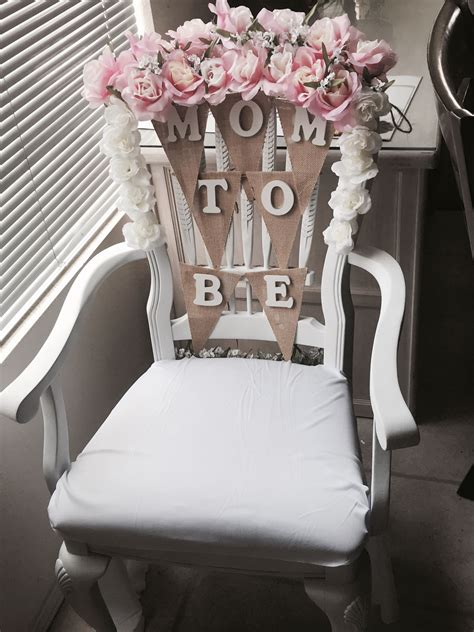 To Be Baby Shower Chair by Baby Shower Chair Idea Flowers From Walmart Wood
