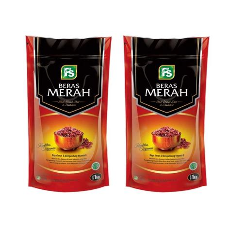 Beras Merah 1 Kg jual fs beras merah 1 kg 2 pcs harga kualitas