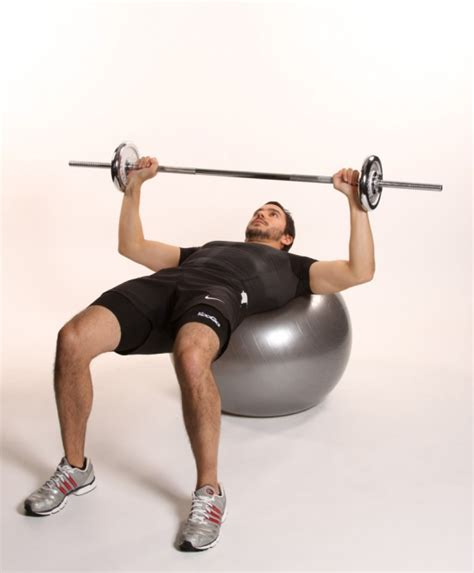 bench press exercise images bench press on fitball ibodz online personal trainer