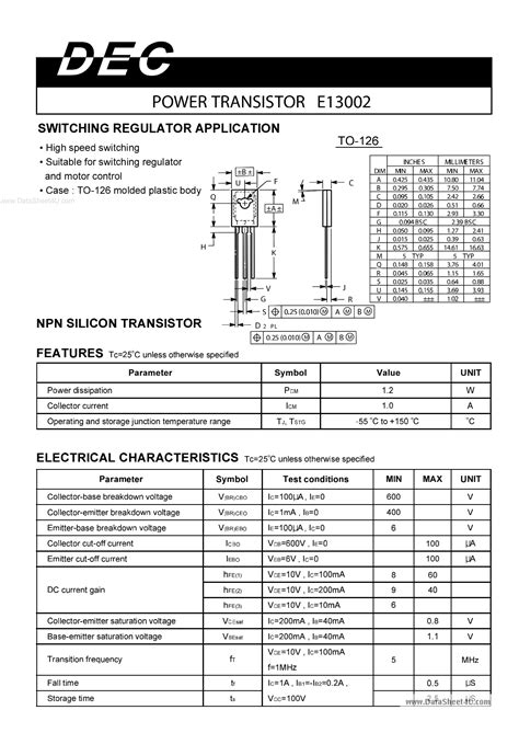 transistor e13003 pdf e13003 power transistor datasheet 28 images 2sd1555 4377133 pdf datasheet ic on line