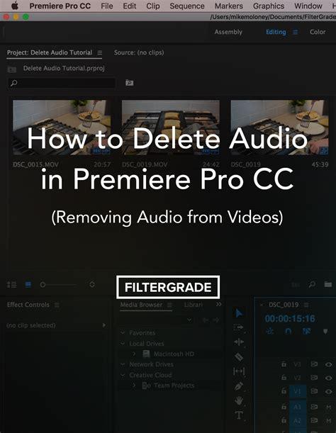 adobe premiere pro remove audio filtergrade blog filtergrade photoshop actions