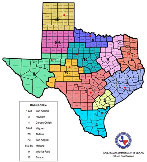 texas railroad commission map and gas division district boundary map texas ranches for sale with minerals