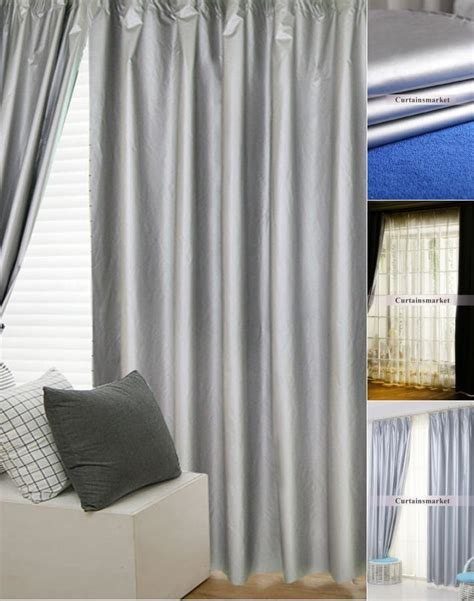 Solid Energy Saving Thermal And Cheap Blackout Curtains