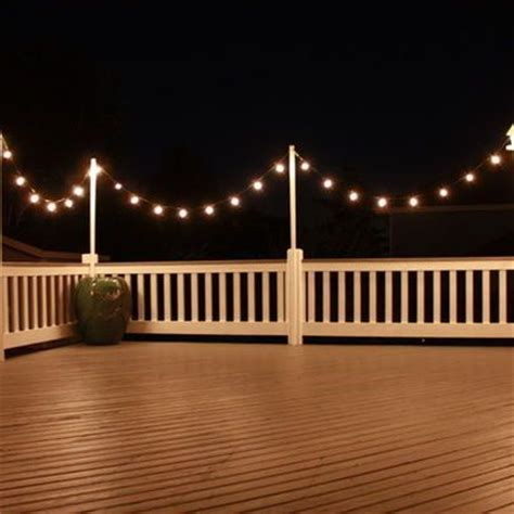 hanging deck lights 1000 ideas about deck lighting on deck