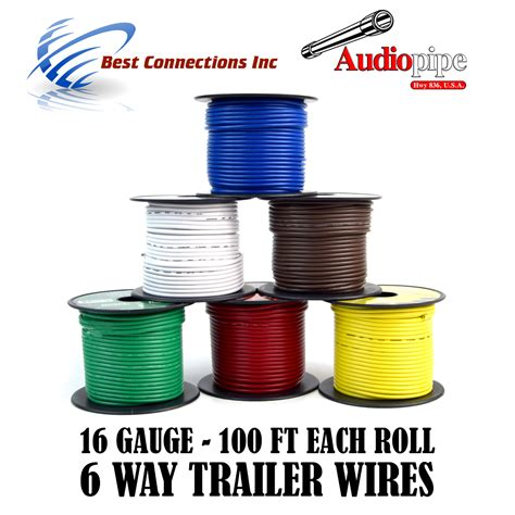 trailer wire light cable for harness 6 way cord 16