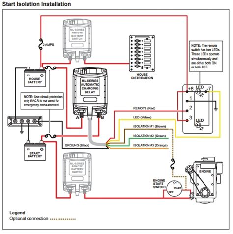 blue sea add a battery wiring diagram an explanation of the start isolation feature on blue sea