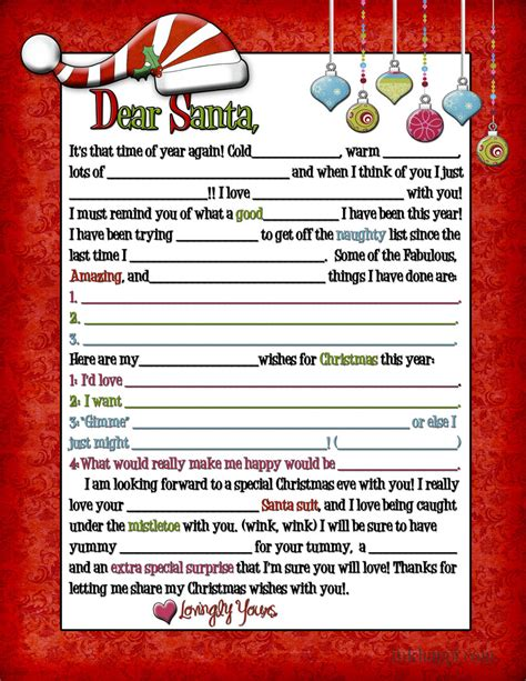 Free Printable Letter From Santa For Adults | a letter to santa for adults wink wink inkhappi
