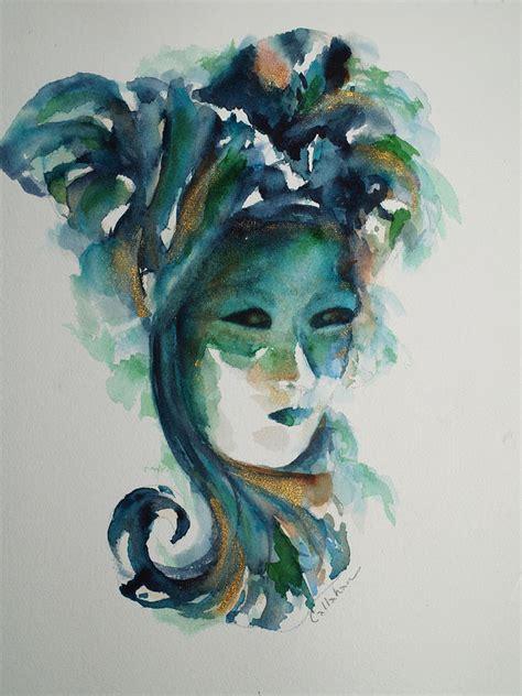 venetian mask no 2 painting by lynn callahan